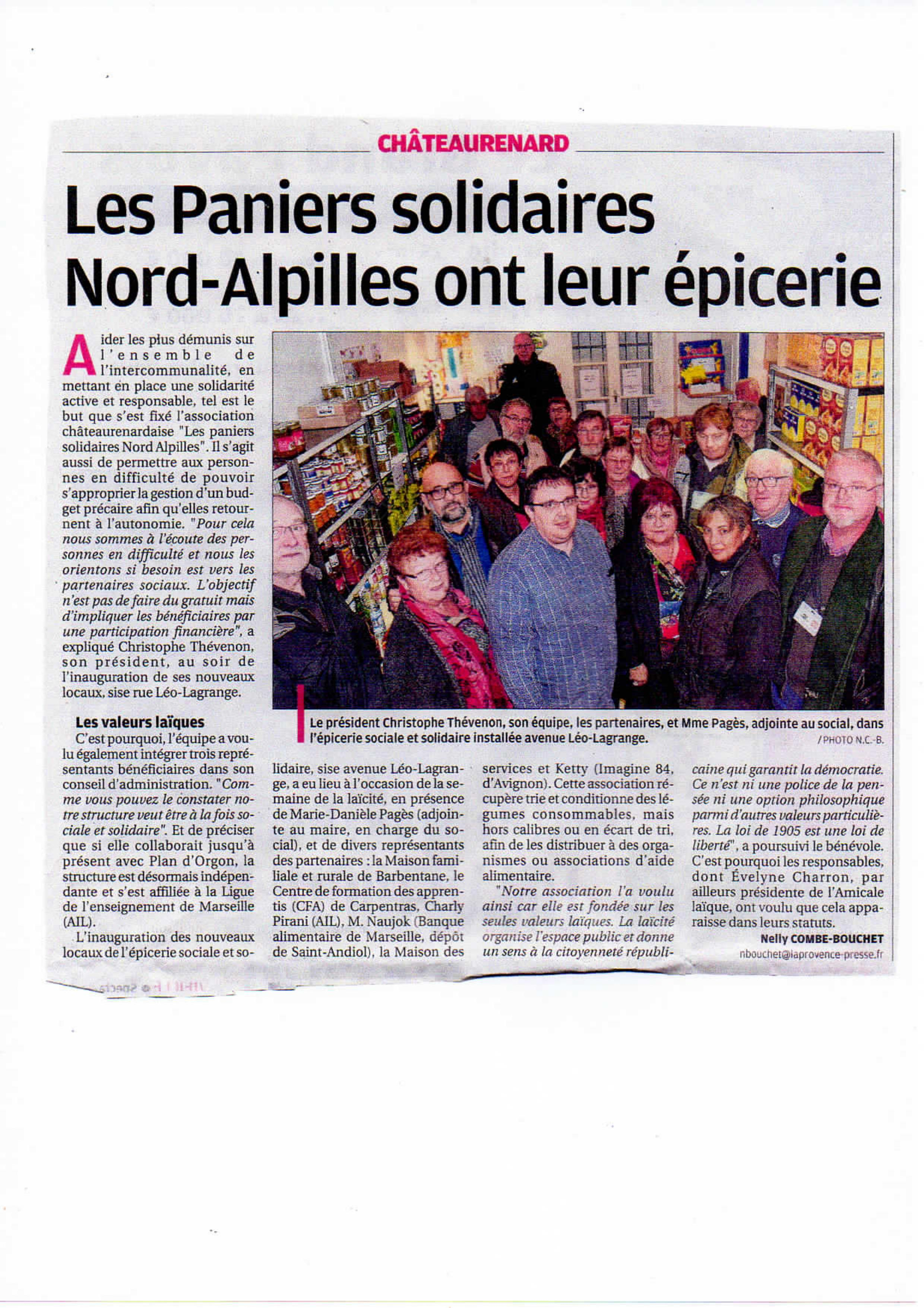 Paniers solidaires nord alpilles 1
